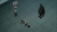 Despair Arc Episode 11 - Mukuro knocked onto her back