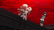 Despair Arc Episode 11 - Junko watches the Reserve Course commit mass suicide