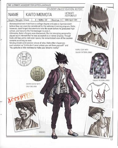 File:Danganronpa V3 - Day One Dossier Art Booklet - Kaito Momota.png