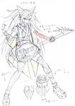 Danganronpa 3 - Character Profiles - Ibuki Mioda (Despair design sketches)