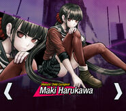 Maki Harukawa Danganronpa V3 Official English Website Profile (Mobile)