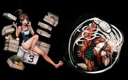 Danganronpa 1 Steam Backgrounds (Aoi Asahina and Sakura Ogami) (HD)