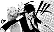 Danganronpa Gaiden KK Takumi protecting Misaki Chap 13