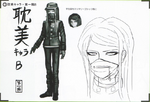 Art Book Scan Danganronpa V3 Character Designs Betas Korekiyo Shinguji (2)