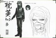 Art Book Scan Danganronpa V3 Character Designs Betas Korekiyo Shinguji (2)
