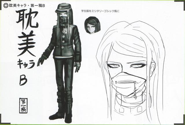 File:Art Book Scan Danganronpa V3 Character Designs Betas Korekiyo Shinguji (2).png