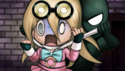 Danganronpa V3 CG - Alter Ego Gonta Gokuhara strangling Miu Iruma in the Neo World Program