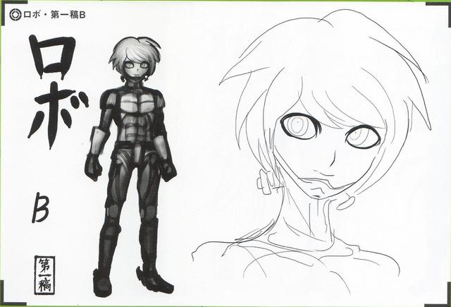 File:Art Book Scan Danganronpa V3 Character Designs Betas Keebo K1-B0 Ki-Bo Kiibo (2).png