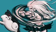 Danganronpa 1 CG - Sakura fighting Monokuma (02)