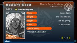 Sakura Ogami's Report Card (Deceased)
