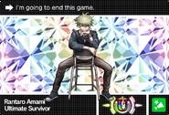 Danganronpa V3 Bonus Mode Card Rantaro Amami U ENG