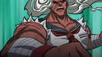 Danganronpa the Animation (Episode 08) - Sakura fighting Monokuma (4)