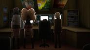 Despair Arc Episode 7 - Mikan watching Ryota's animation