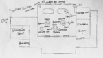Danganronpa 2 CG - Mahiru Koizumi's layout of the lodge