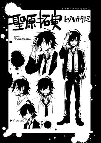 File:Danganronpa Killer Killer Takumi Hijirihara Character Sheet.png