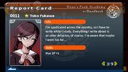 Toko Fukawa Report Card Page 3