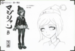 Art Book Scan Danganronpa V3 Character Designs Betas Himiko Yumeno (2)