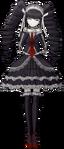 Danganronpa 1 Celestia Ludenberg Fullbody Sprite (PSP) (4)