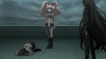 Despair Arc Episode 11 - Junko knocked Mukuro down