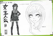Art Book Scan Danganronpa V3 Character Designs Betas Kaede Akamatsu (2)