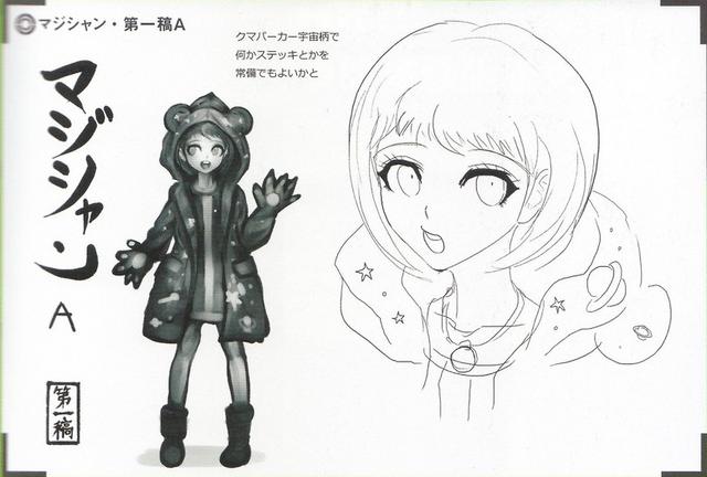 File:Art Book Scan Danganronpa V3 Character Designs Betas Himiko Yumeno (1).png