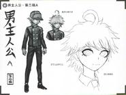 Art Book Scan Danganronpa V3 Character Designs Betas Shuichi Saihara (2)