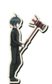 Danganronpa V3 Shuichi Saihara Death Road of Despair Sprite (Hammer) 02