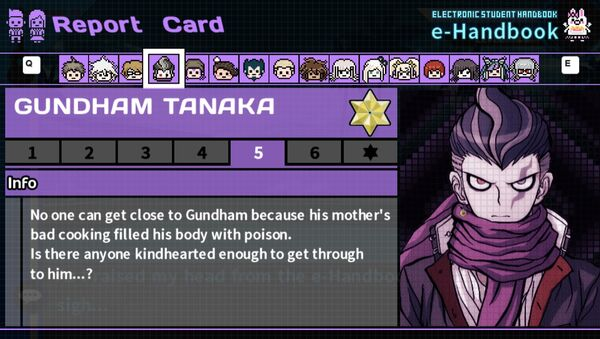 Gundham Tanaka's Report Card Page 5
