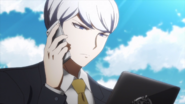 Munakata contacts Yukizome while looking at a file about Reserve Course