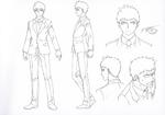 Danganronpa 3 - Character Profiles - Jin Kirigiri (Sketches)