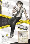 Danganronpa 2 Hajime Hinata Character Design Profile Overview Danganronpa 1.2 Art Book