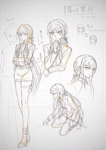 Danganronpa 3 - Danganronpa Project Trailer Sketches - Kyoko Kirigiri