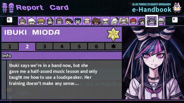 Ibuki Mioda's Report Card Page 2