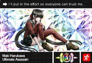 Danganronpa V3 Bonus Mode Card Maki Harukawa U ENG