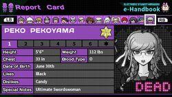 Peko Pekoyama's Report Card (Deceased)