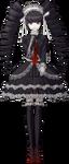 Danganronpa 1 Celestia Ludenberg Fullbody Sprite (PSP) (7)