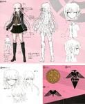 Danganronpa 1 Character Design Profile 1.2 Reload Artbook Kyoko Kirigiri