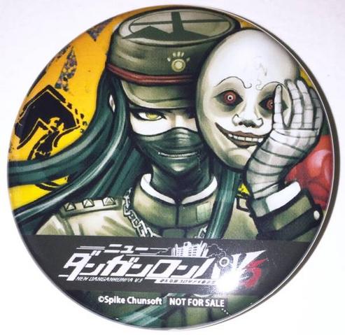 File:Danganronpa V3 Preorder Bonus Can Badge from GameShop (1).png