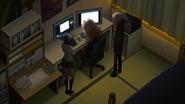Despair Arc Episode 7 - Junko and Mukuro watch Ryota's animation