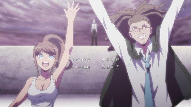 File:Farewell from Asahina, Hagakure, and Naegi.jpg