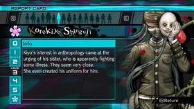 Korekiyo Shinguji Report Card Page 3 (For Shuichi)