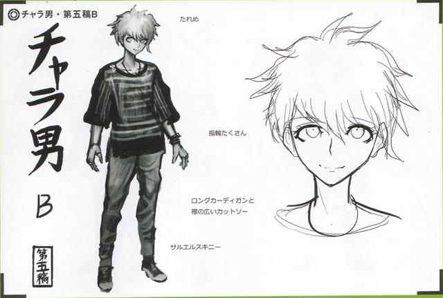 File:Art Book Scan Danganronpa V3 Character Designs Betas Rantaro Amami (5).png