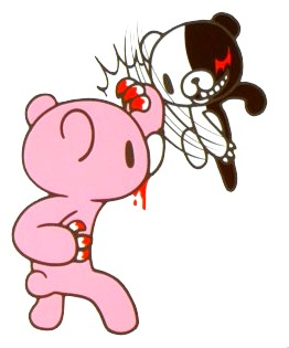 File:Danganronpa Hope's Peak Academy of Art Monokuma fighting Gloomy Bear.jpg
