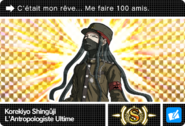 Danganronpa V3 Bonus Mode Card Korekiyo Shinguji S FR
