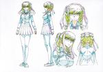 Danganronpa 3 - Character Profiles - Peko Pekoyama (Sketches)