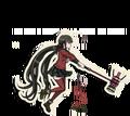 Danganronpa V3 Maki Harukawa Death Road of Despair Sprite (Hammer) 06