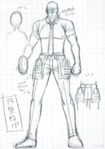 Danganronpa 3 - Character Profiles - SHSL Discus Thrower (Sketches)