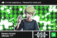 Danganronpa V3 Bonus Mode Card Rantaro Amami N ENG