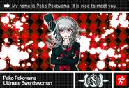 Danganronpa V3 Bonus Mode Card Peko Pekoyama N ENG