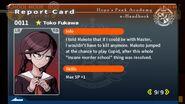 Toko Fukawa Report Card Page 9